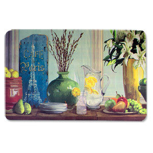 Anti Fatigue Kitchen Floor Mat, Parisian Water Jug (18x30)