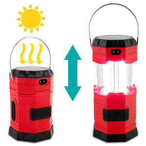 Collapsible 3-Way Powered 120 Lumen Solar LED Lantern with USB Charger