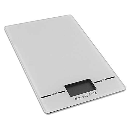 Slim Electronic Digital Kitchen Scale: 11lb Capacity