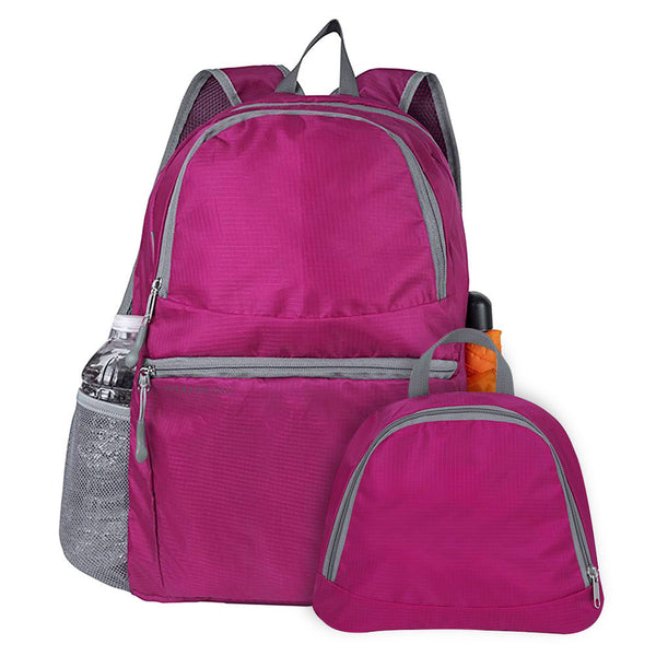 Travelon Packable Multi-Pocket Backpack, Berry, 42979-910