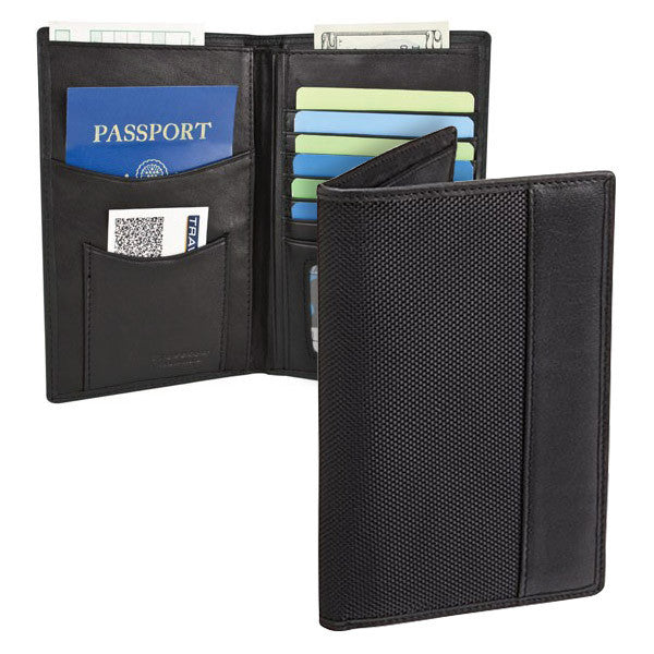 Travelon SafeID Classic Executive Organizer Passport & ID Travel Holder, Black, 82291-500