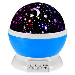 Starry Night 360 Rotating Round LED Night Light & Projector - PG93777