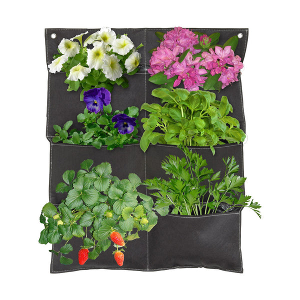 Coolaroo Vertical Garden 6 Pocket Balcony Planter - Brown