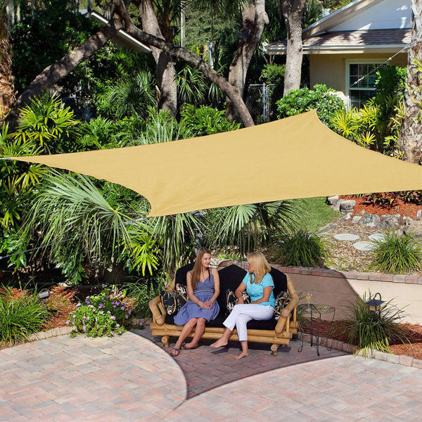 Coolaroo Ready to Hang Square Shade Sail, Southern Sunset (11'10 x 11'10)