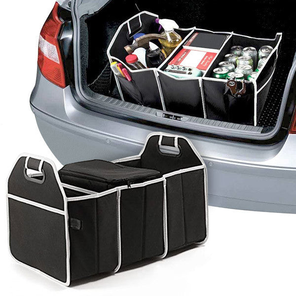 Mighty 3-Compartment Car Trunk Organizer with Cooler Bag - PG74239