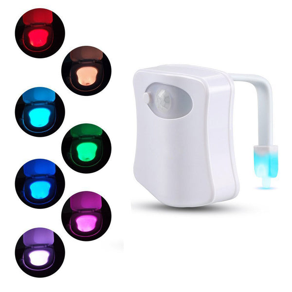 Mighty Motion Activated LED Toilet Night Light w/ 8 Colors - PG93780