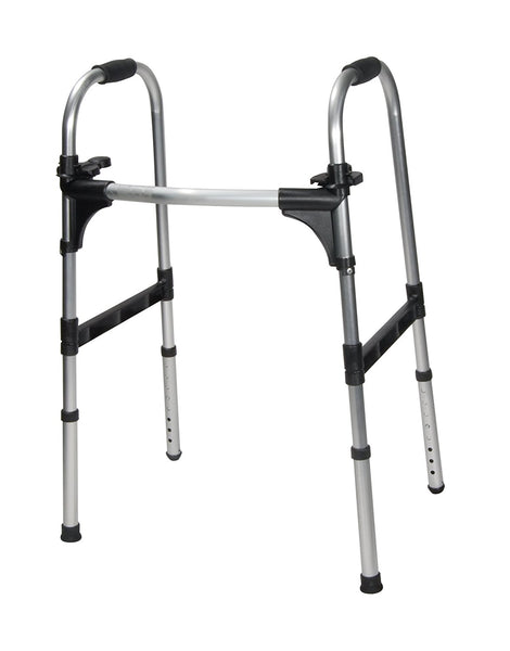 Drive Medical Deluxe Push Palm Release Ultra Lightweight Folding Walker, 10291-1