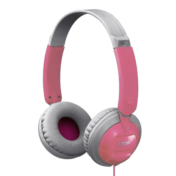 TDK Ultimate Comfort ST-100 Ultralight Stereo Headphones Pink