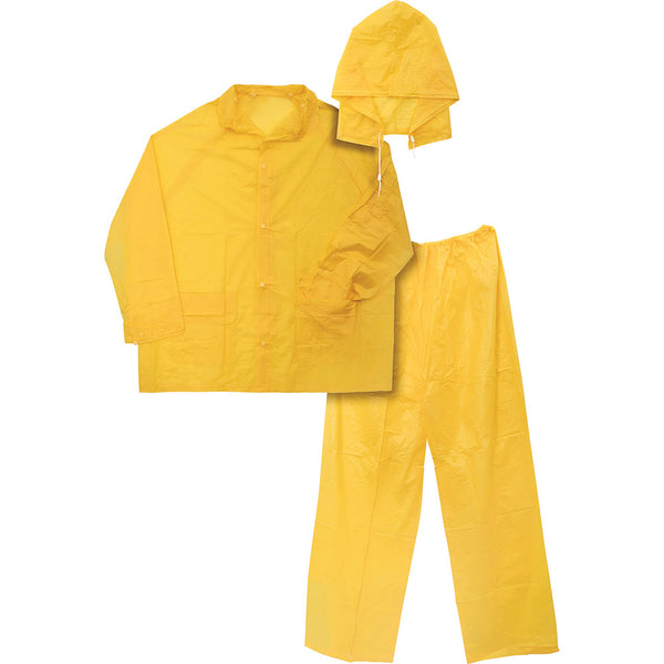 Ironwear 3 Piece Economy Rainsuit Yellow 8236-Y, 4XL