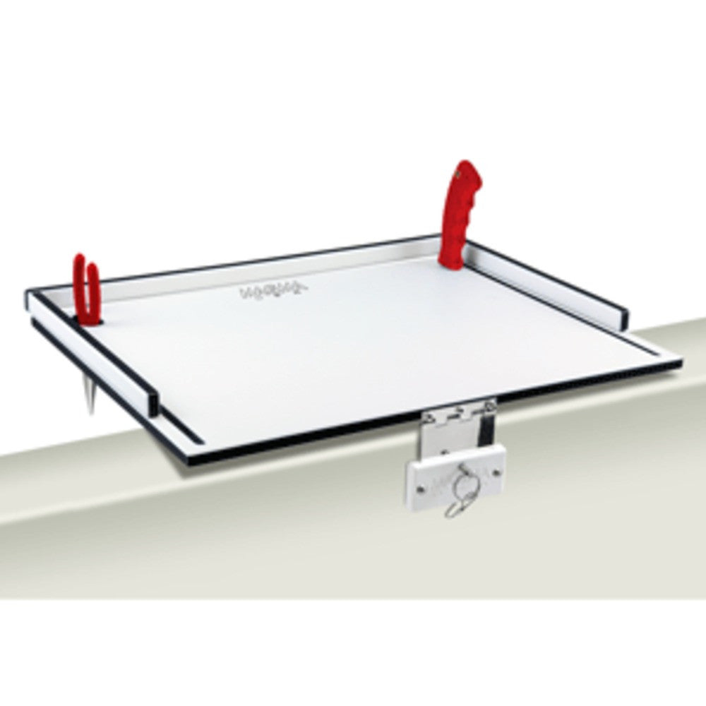Magma Econo Mate Bait Filet Table - 20 - White/Black