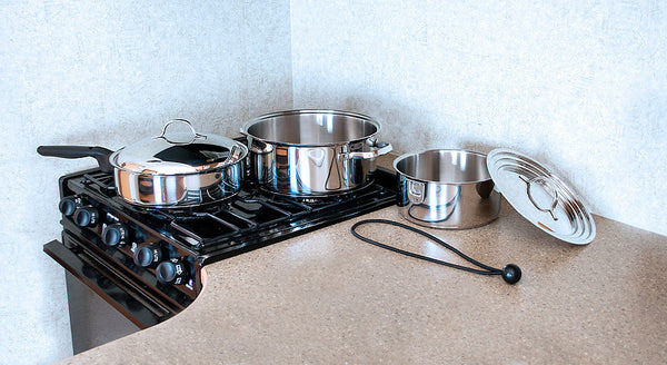 Kuuma 7-Piece Stainless Steel Nesting Cookware Set - Induction Compatible - Oven Safe,  58370