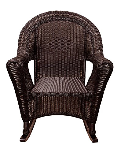 Brown Resin Wicker Rocking Chair Patio Furniture