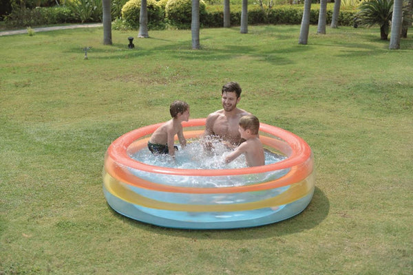 "73.5"" Vibrantly Colored Inflatable Swimming Pool with Translucent Walls, JL017395NPF"