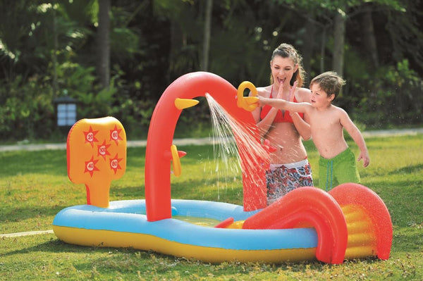 "88.5"" Inflatable Children's Interactive Water Play Center with Slide, JL097224NPF"