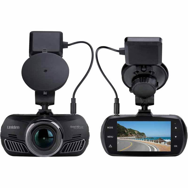 UNIDEN DC10QG iWitness 2560 x 1440p HD Dash Cam with GPS Geotagging & Lane Departure Warning,