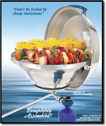 Magma Marine Kettle 17 Party Size Gas Grill w/Hinged Lid - A10-215