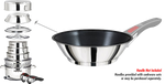 Magma Saute/Omelet Pan - Stainless Steel Exterior & Slate Black Ceramica Non-Stick Interior, A10-369-2