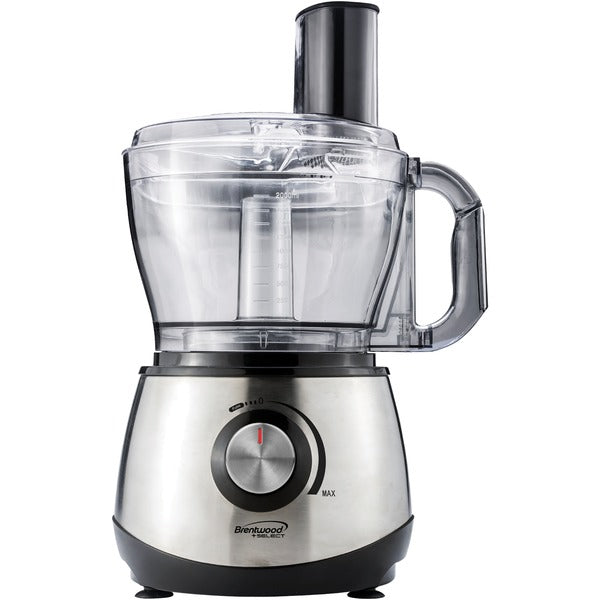 Brentwood Appliances 8-Cup Stainless Steel Food Processor, FP-581