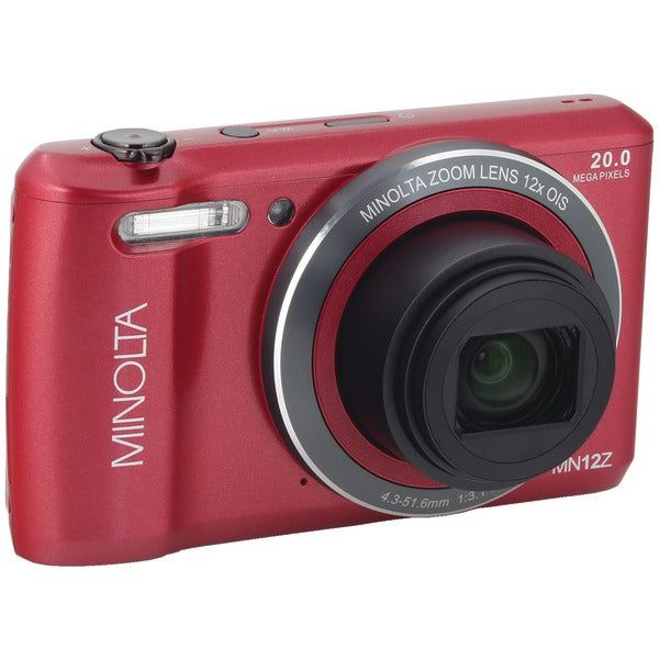 Minolta  20.0-Megapixel HD Wi-Fi® Digital Camera (Red), MN12Z-R