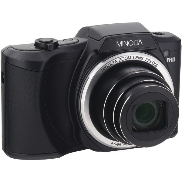 Minolta  20.0-Megapixel 1080p Full HD Wi-Fi® Digital Camera with 22x Zoom (Black), MN22Z-BK