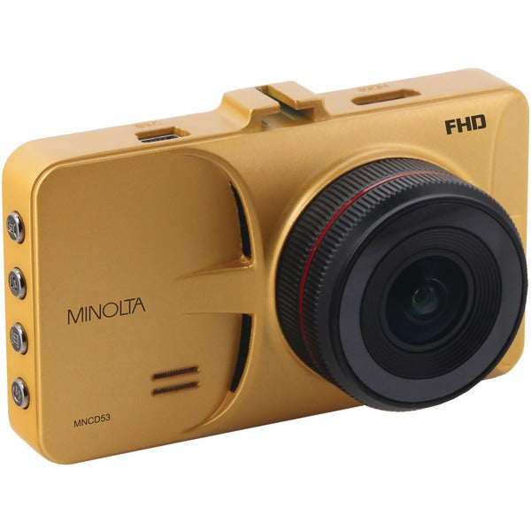 Minolta  12.0-Megapixel 1080p Full HD Car Camcorder (Gold), MNCD53-GD