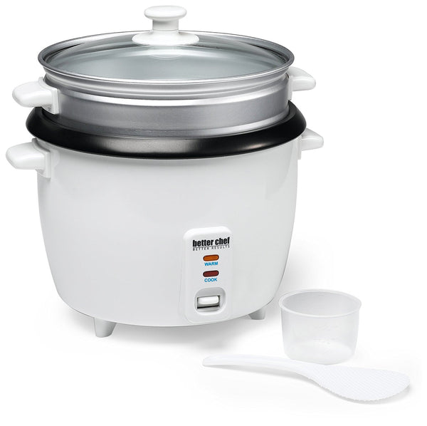 Better Chef 20-cup Rice Cooker with Food Steamer Attachment