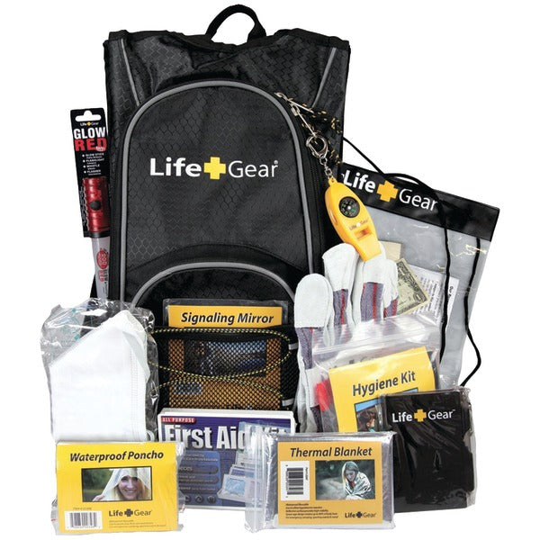 LifeGear Day Pack Emergency Survival Backpack Kit LG492