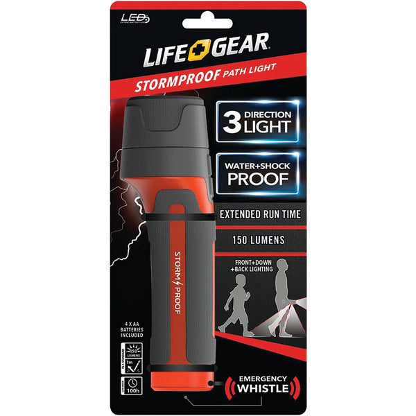 LifeGear 150-Lumen Stormproof Path Light BA38-60634-RED