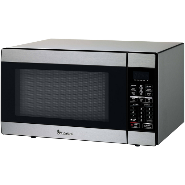 MAGIC CHEF MCD1811ST 1.8 Cubic-ft, 1,100-Watt Stainless Microwave with Digital Touch