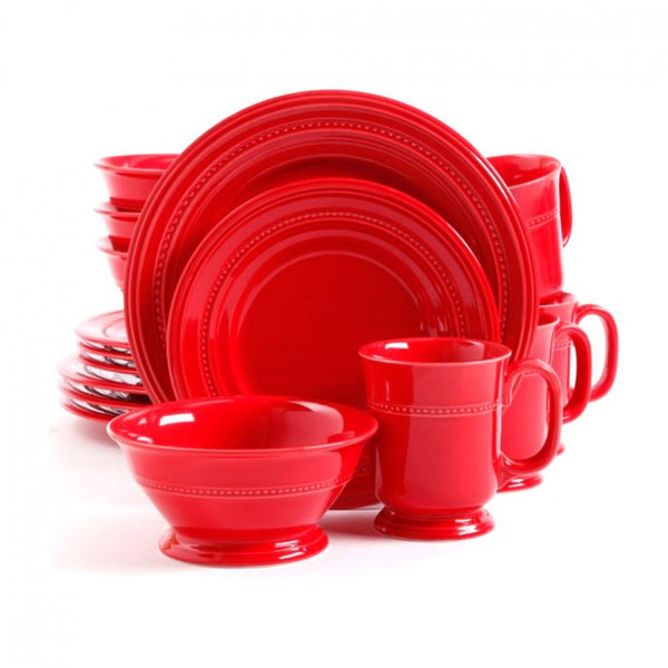 Gibson Barberware 16 piece  Dinnerware Set - Red