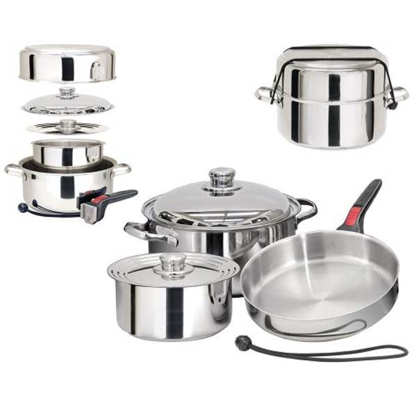 Magma Nestable 7 Piece Induction Gourmet Cookware, A10-362-IND