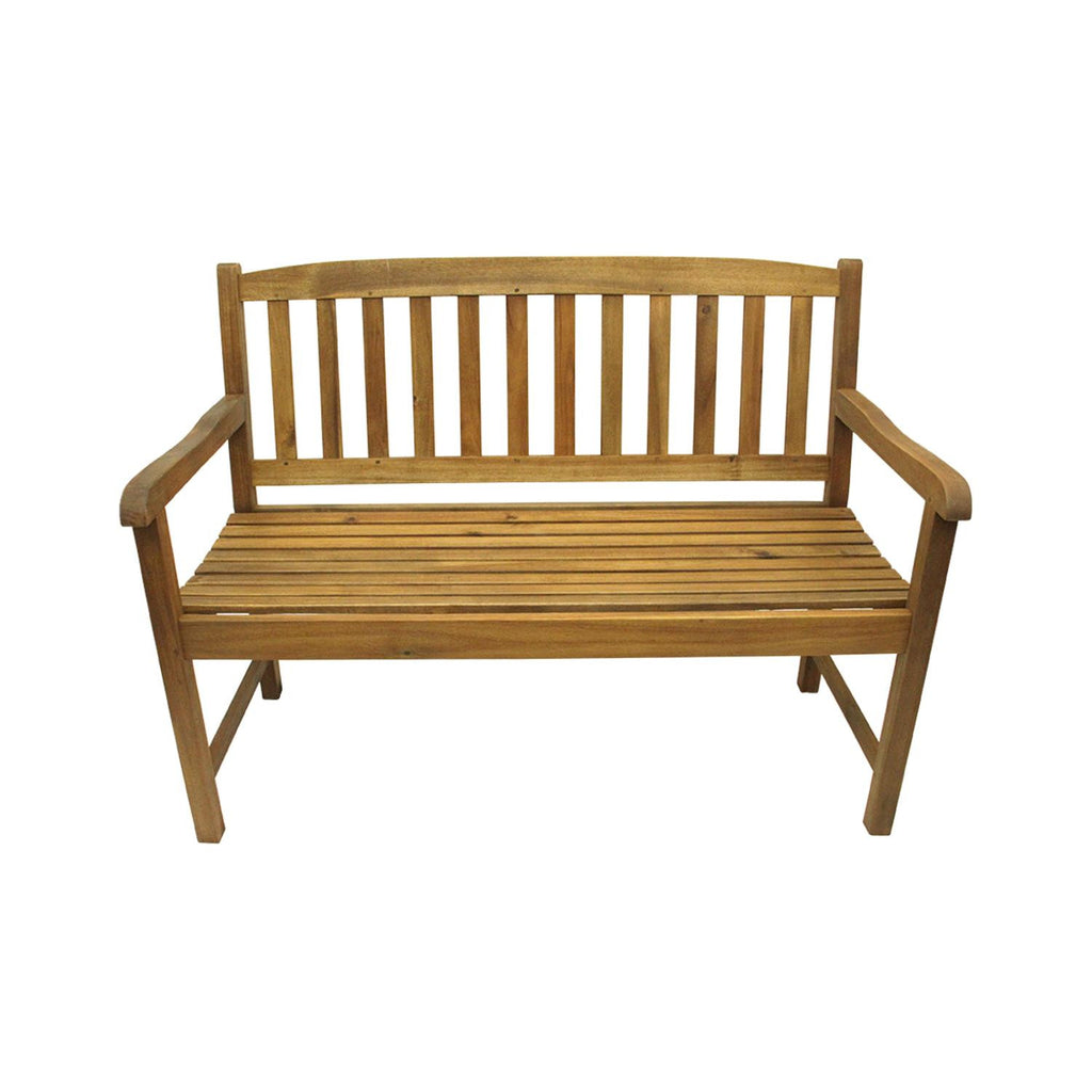 "47"" Acacia Wood Outdoor Patio Furniture Bench, GERSON 1555070"