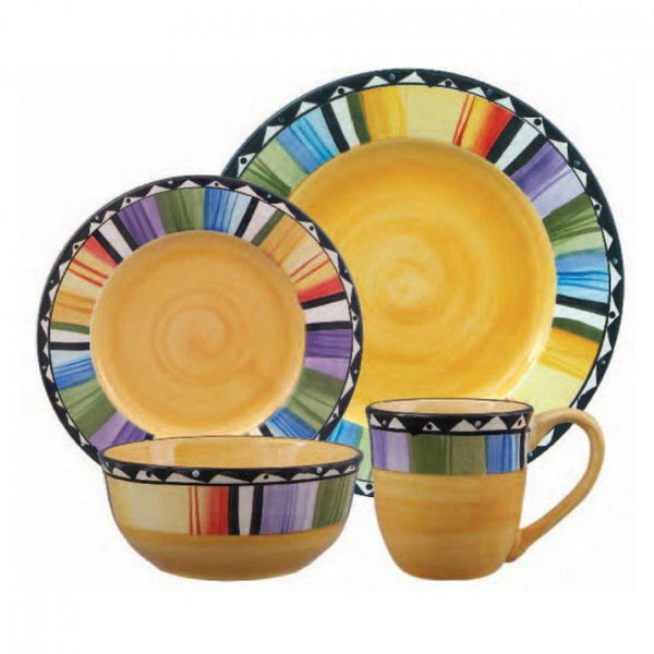 Gibson Home Fandango 16-Piece Dinnerware Set, 61897.16