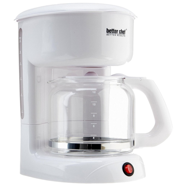 Better Chef 12 Cup White Coffeemaker