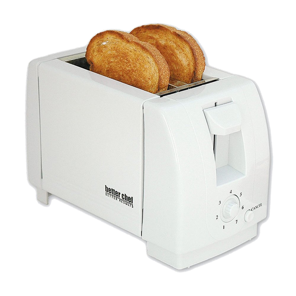Better Chef 2-Slice Toaster, White