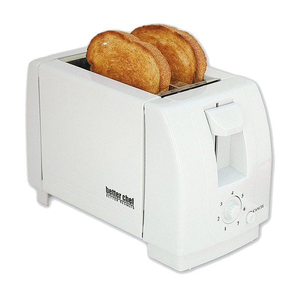 Better Chef Two Slice Toaster, White