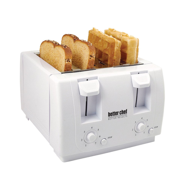 Better Chef 4 Slice Dual-Control Toaster in White