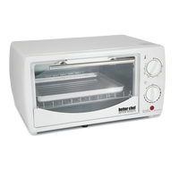 Better Chef 9 Liter Toaster Oven Broiler-White