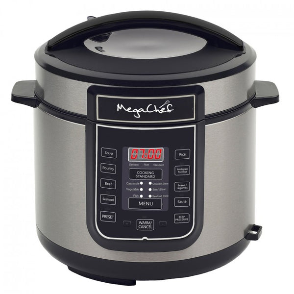 Megachef 6 Quart Digital Pressure Cooker with 14 Pre-set Multi Function Features - MCPR100A