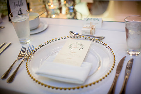 Wedding table placement wedding favors gold theme