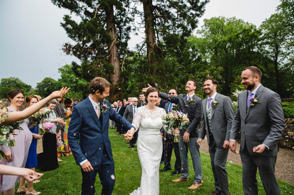 Wedding Isle Dana and Will Edinburgh Scotland Love couple Beautiful Rustic Lace Wedding Dress