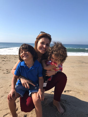 Sitti Soap co-Founder Noora Sharrab with her Two Kids
