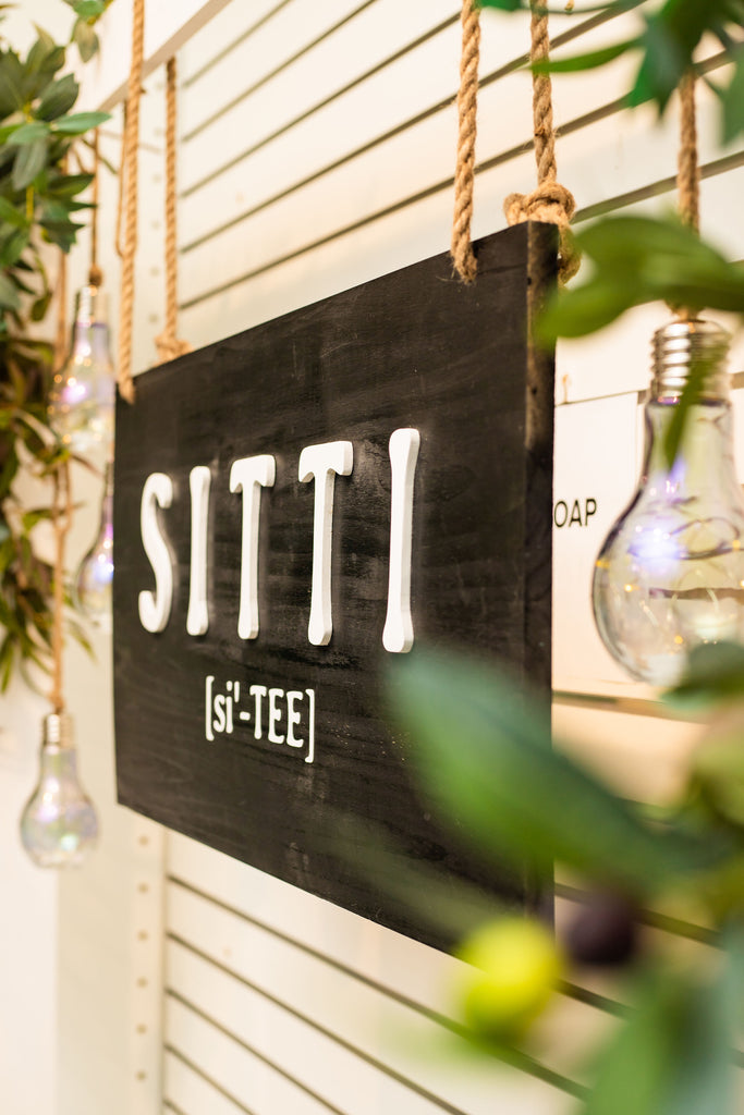 Sitti Handmade wooden sign by Shopi Rentals