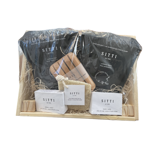 Natural Wooden Box gift set