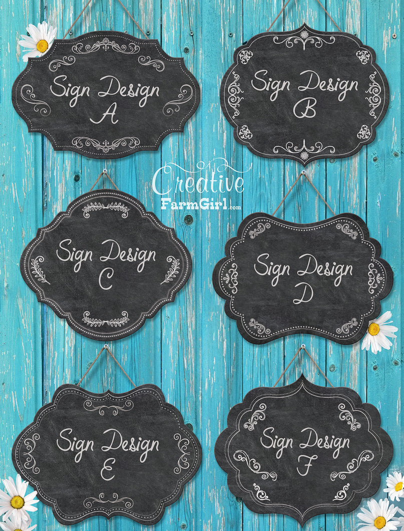Personalized Signs – Creative Farm Girl