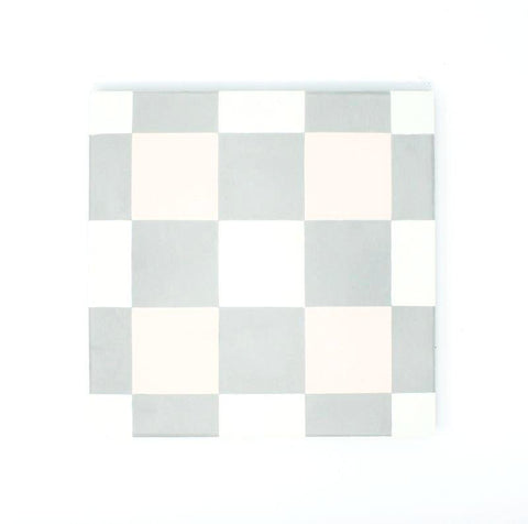 "Pink Checker 8""x8"" Handmade Cement Tile"