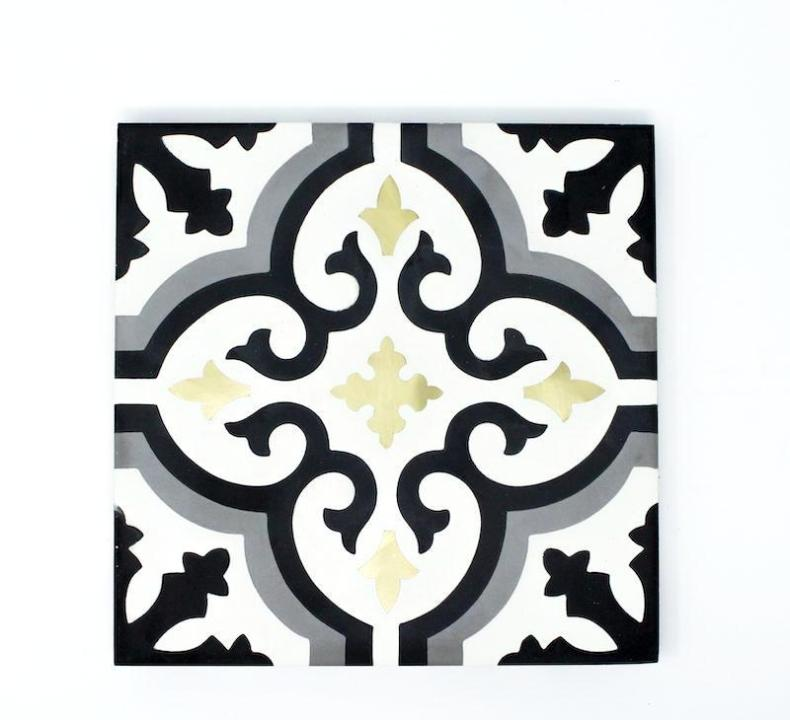 "York Brass 8""x8"" Handmade Cement Tile"