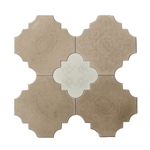Antique Medallion Pattern Cement Tile Set