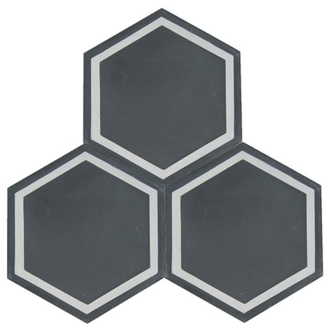 Delfina 8x8 Hexagon Cement Tile