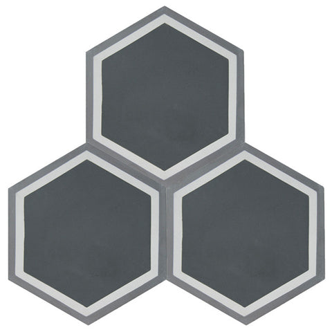 Turin 8x8 Hexagon Cement Tile